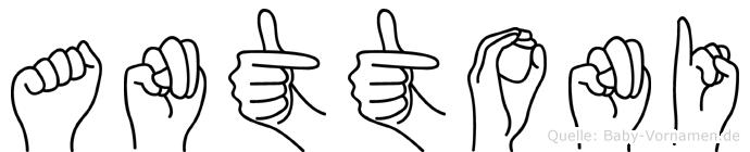 Anttoni in Fingersprache für Gehörlose