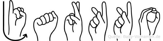 Jarkko im Fingeralphabet der Deutschen Gebärdensprache