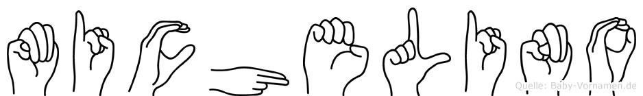 Michelino im Fingeralphabet der Deutschen Gebärdensprache