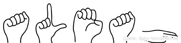 Aleah im Fingeralphabet der Deutschen Gebärdensprache