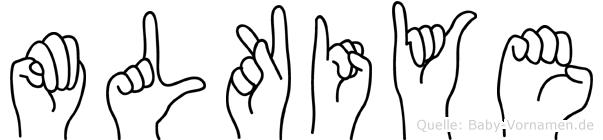 Mülkiye im Fingeralphabet der Deutschen Gebärdensprache