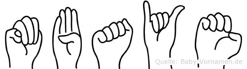 Mbaye im Fingeralphabet der Deutschen Gebärdensprache