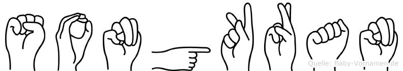 Songkran im Fingeralphabet der Deutschen Gebärdensprache