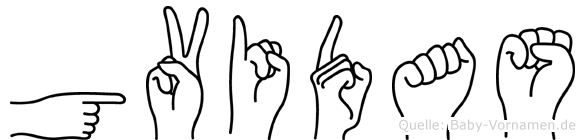 Gvidas in Fingersprache für Gehörlose