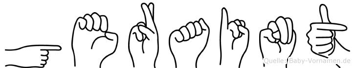 Geraint im Fingeralphabet der Deutschen Gebärdensprache