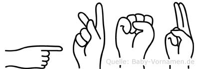 Göksu in Fingersprache für Gehörlose