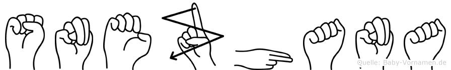Snezhana im Fingeralphabet der Deutschen Gebärdensprache
