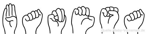 Banesa in Fingersprache für Gehörlose