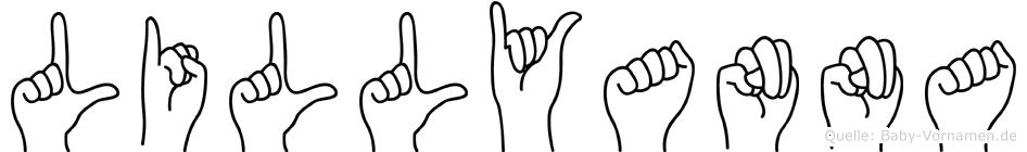 Lillyanna in Fingersprache für Gehörlose