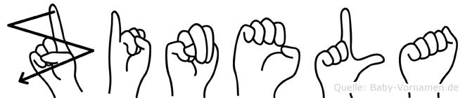Zinela im Fingeralphabet der Deutschen Gebärdensprache