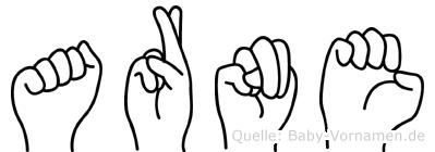Arne in Fingersprache für Gehörlose