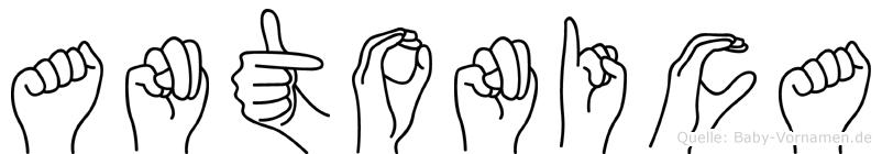 Antonica im Fingeralphabet der Deutschen Gebärdensprache