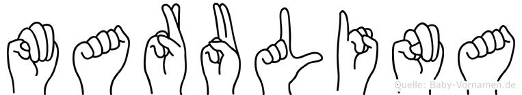Marulina in Fingersprache für Gehörlose