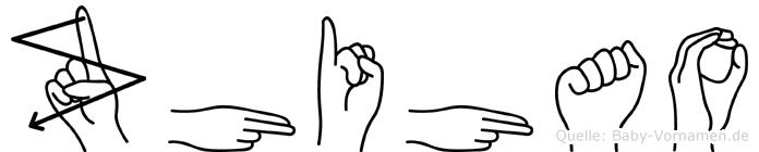 Zhihao in Fingersprache für Gehörlose