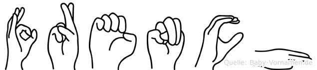 French im Fingeralphabet der Deutschen Gebärdensprache