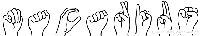 Macarius im Fingeralphabet der Deutschen Gebärdensprache