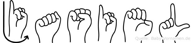 Jasiel im Fingeralphabet der Deutschen Gebärdensprache