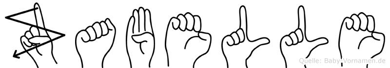 Zabelle im Fingeralphabet der Deutschen Gebärdensprache