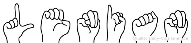 Lenian in Fingersprache für Gehörlose