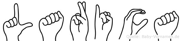 Larica im Fingeralphabet der Deutschen Gebärdensprache