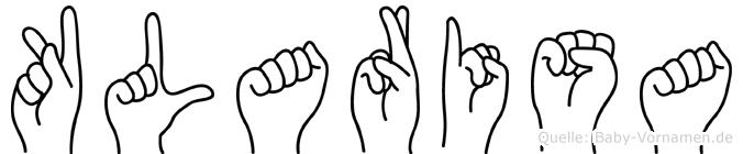 Klarisa im Fingeralphabet der Deutschen Gebärdensprache