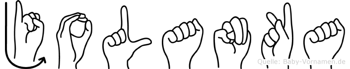 Jolanka in Fingersprache für Gehörlose
