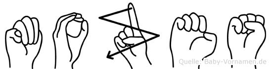 Mozes in Fingersprache für Gehörlose