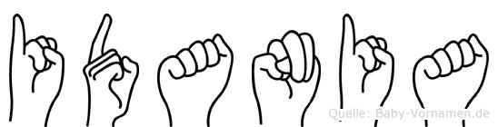Idania in Fingersprache für Gehörlose