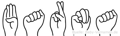 Barna im Fingeralphabet der Deutschen Gebärdensprache