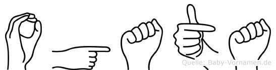 Ogata in Fingersprache für Gehörlose