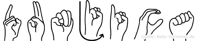 Dunjica in Fingersprache für Gehörlose