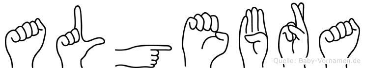 Algebra in Fingersprache für Gehörlose