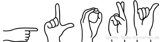 Glory in Fingersprache für Gehörlose