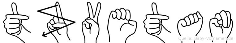 Tzvetan im Fingeralphabet der Deutschen Gebärdensprache