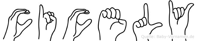 Cicely in Fingersprache für Gehörlose