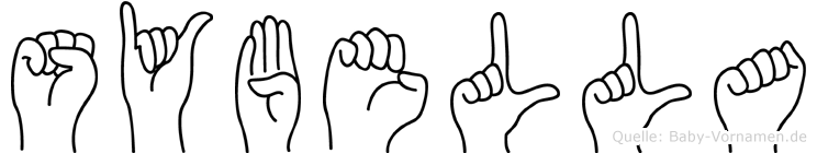 Sybella im Fingeralphabet der Deutschen Gebärdensprache