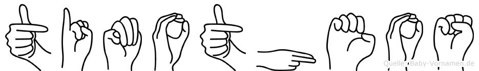 Timotheos in Fingersprache für Gehörlose