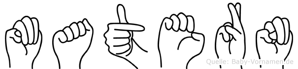 Matern in Fingersprache für Gehörlose