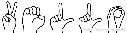 Vello in Fingersprache für Gehörlose