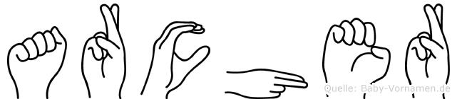 Archer in Fingersprache für Gehörlose