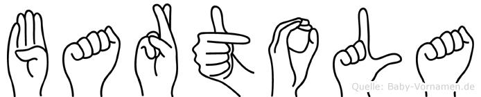 Bartola im Fingeralphabet der Deutschen Gebärdensprache