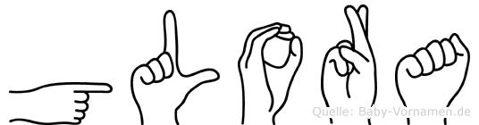 Glora in Fingersprache für Gehörlose