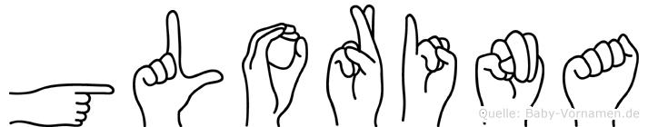 Glorina in Fingersprache für Gehörlose