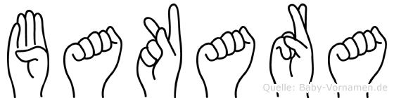 Bakara im Fingeralphabet der Deutschen Gebärdensprache
