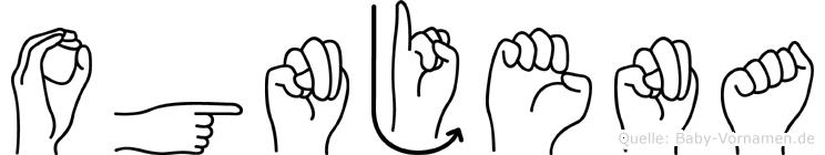 Ognjena im Fingeralphabet der Deutschen Gebärdensprache