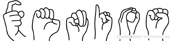 Xenios in Fingersprache für Gehörlose