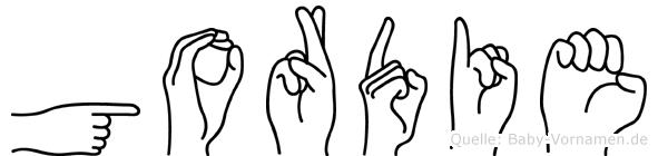 Gordie in Fingersprache für Gehörlose