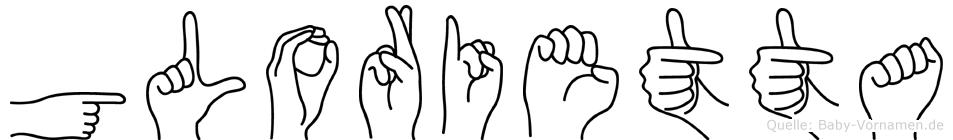 Glorietta in Fingersprache für Gehörlose