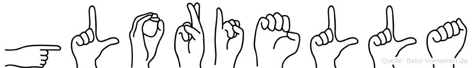 Gloriella in Fingersprache für Gehörlose