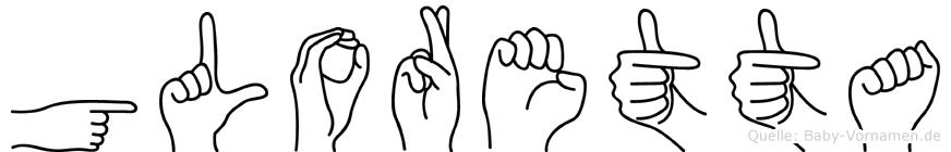 Gloretta in Fingersprache für Gehörlose